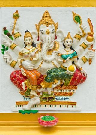 siddhivinayaka: Indian or Hindu God Named Vijaya Ganapati at Wat Saman, Chachoengsao, Thailand  Editorial