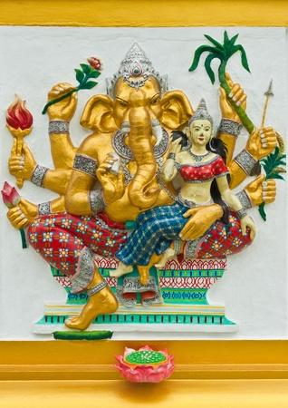 siddhivinayaka: Indian or Hindu God Named Udhawa Ganapati at Wat Saman, Chachoengsao, Thailand  Editorial
