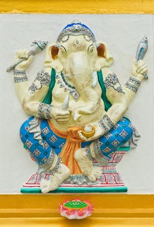 siddhivinayaka: Indian or Hindu God Named Haridra Ganapati at Wat Saman, Chachoengsao, Thailand