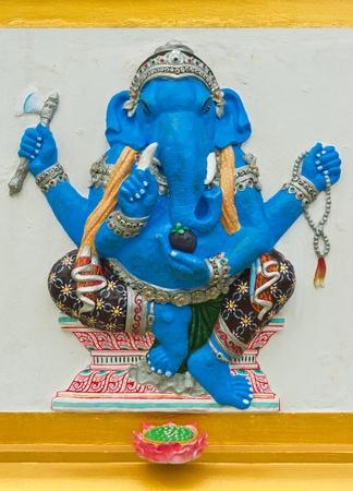 siddhivinayaka: Indian or Hindu God Named Ekdanta Ganapati at Wat Saman, Chachoengsao, Thailand