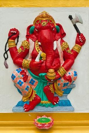 siddhivinayaka: Indian or Hindu God Named Dhundhi Ganapati at Wat Saman, Chachoengsao, Thailand  Editorial