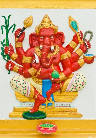 trust god: Indian or Hindu God Named Taruna Ganapati at Wat Saman, Chachoengsao, Thailand