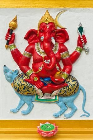 siddhivinayaka: Indian or Hindu God Named Ekaksara Ganapati at Wat Saman, Chachoengsao, Thailand