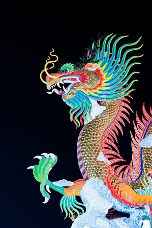 Beautiful dragon at Night  Stock Photo - 10008945