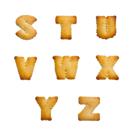 Letters of the British alphabet made of gingerbread  photo