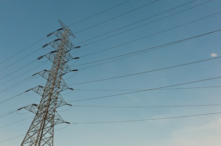 megawatts: Electric high voltage power post