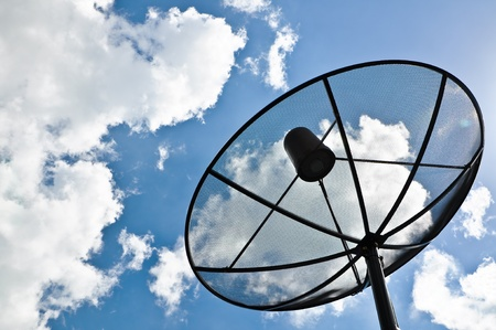 snoop: Satellite dish  Stock Photo