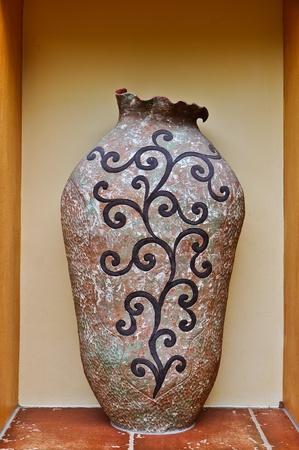 arredamento classico: Vaso in ceramica Archivio Fotografico