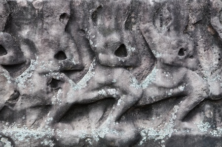 sandstone carving at Phimai Castle, Thailand  photo