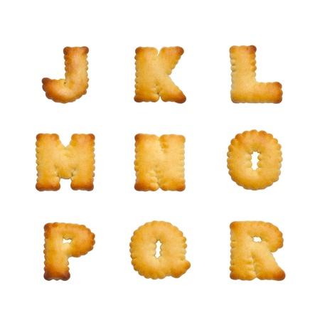 british foods: Letters of the British alphabet made of gingerbread