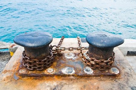 Mooring chains  Stock Photo