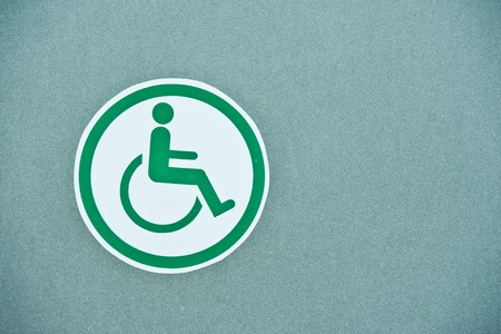 Sign of public toilets WC restroom for handicapped photo