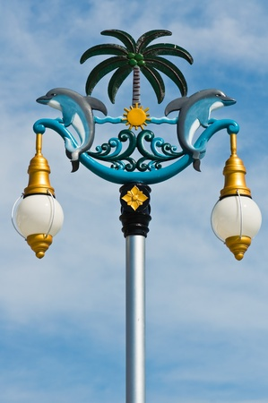 Hanging lantern dolphin in traditional Thai style Stock Photo - 10326054