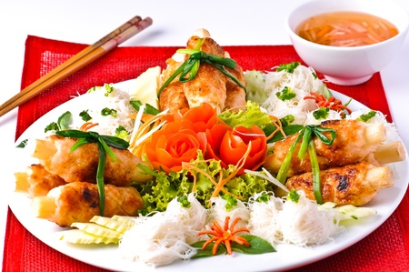 shrimp around sugar cane, Thai food