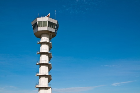 observations: Air Traffic Control tower Stock Photo