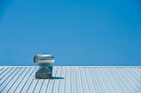 damaged roof: Air conditioner on roof