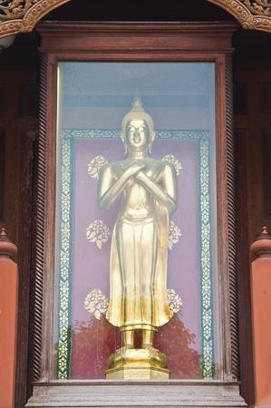 buddha image: Buddha image in glass box