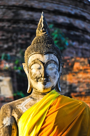 Buddha Status at Wat Yai Chaimongkol, Ayutthaya, Thailand Stock Photo - 10436700