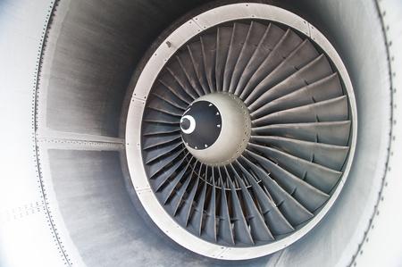 mechanical energy: turbine blades of an aircraft jet engine