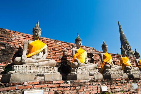 chaimongkol: Buddha Status at Wat Yai Chaimongkol, Ayutthaya, Thailand  Stock Photo