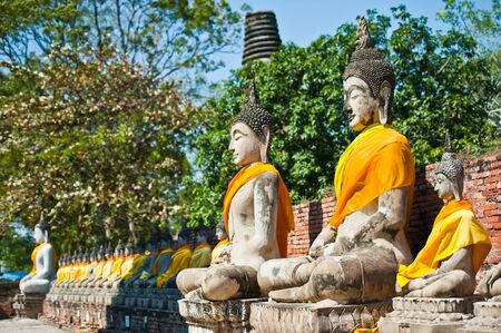 chaimongkol: Buddha Status at Wat Yai Chaimongkol, Ayutthaya, Thailand  Stock Photo