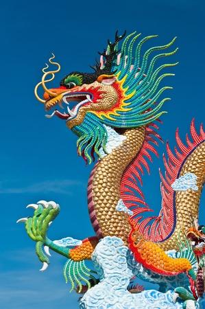 Beautiful dragon with blue sky photo