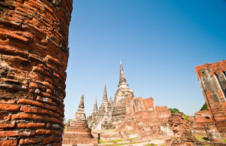 Pagodas at Wat Mongkolpraphitara, Ayutthaya, Thailand  photo