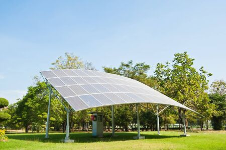 Solar Cell with Sky Stock Photo - 10540119