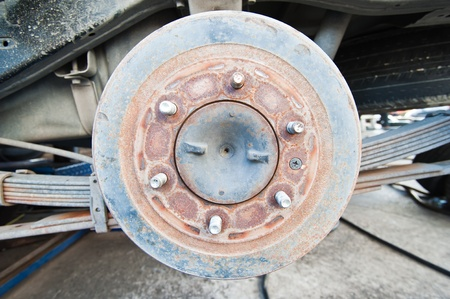 Used Car Break detail with tire removed  Stock Photo - 10540106