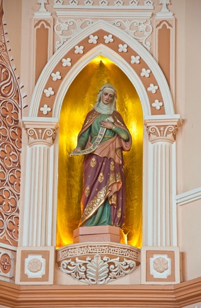 homily: Statue of Saint in The Roman Catholic Church at Chanthaburi Province, Thailand. (The Cathedral of the Immaculate Conception) Stock Photo