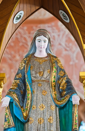 maria: Virgin Mary Statue in Roman Catholic Church at Chanthaburi Province, Thailand. (The Cathedral of the Immaculate Conception)