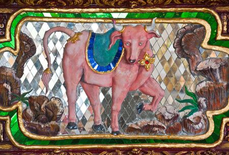 Cow Sculpture in Thai Temple
