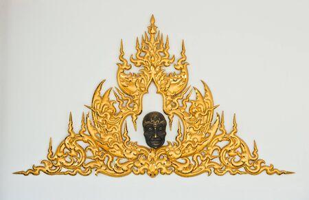 Traditional Thai Style Molding Art in Wat Rong Khun, Chiang Rai, Thailand  photo