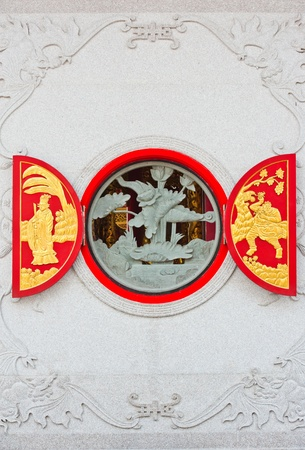 Chinese Temple opened window  photo