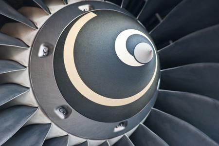 �labes de la turbina de un motor a reacci�n avi�n Foto de archivo - 10972354
