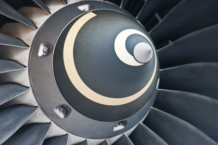 are thrust: Turbine Blades of An Aircraft Jet Engine  Stock Photo