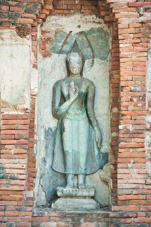 Buddha Status at Wat Mahathat, Ayutthaya, Thailand  photo