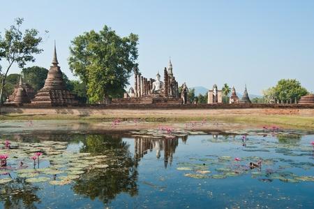 Wat Mahathat at Sukhothai Historical Park, Thailand  photo