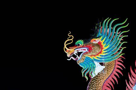 Beautiful dragon at Night  photo