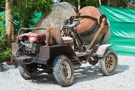 concrete mixer truck: cement mixer car  Editorial