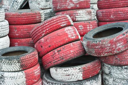 Tire Pile in A Racing Circuit  Stock Photo - 11107222