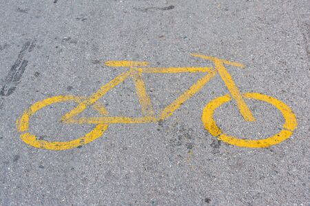Bicycle sign on bicycle lane  photo
