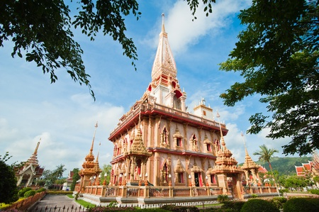 Pagoda in wat Chalong, Phuket, Thailand  photo
