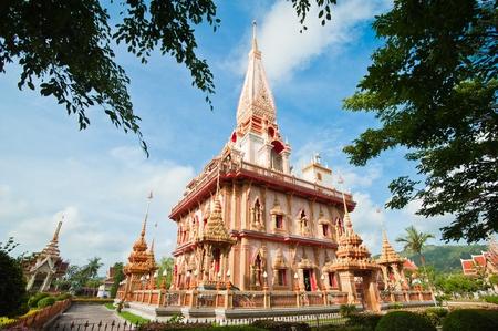 Pagoda in wat Chalong, Phuket, Thailand  photo