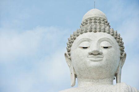 phuket province:  The Biggest white holy Buddha at Phuket, Thailand  Stock Photo