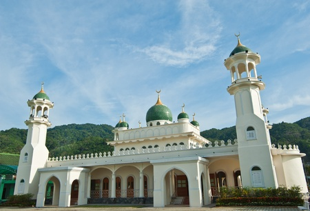 southern thailand: Side view of mosque in southern Thailand.