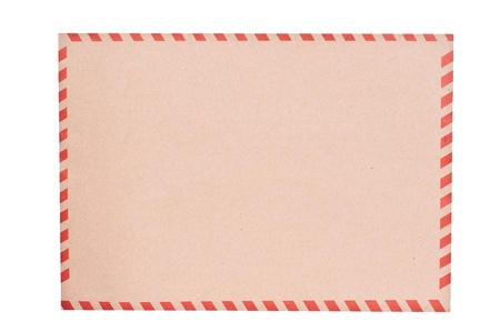 Brown envelope isolated on white photo
