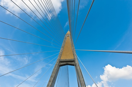 bhumibol: Bhumibol Bridge at Bangkok, Thailand Stock Photo