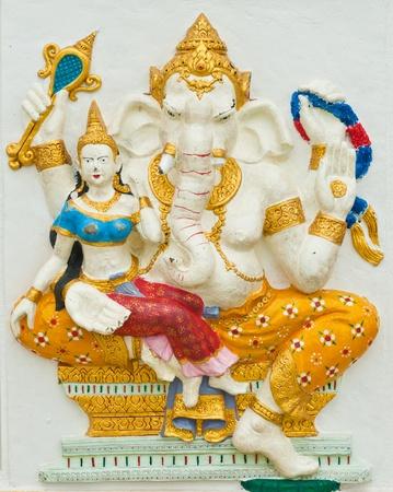 chachoengsao: Indian or Hindu God at Wat Saman, Chachoengsao, Thailand