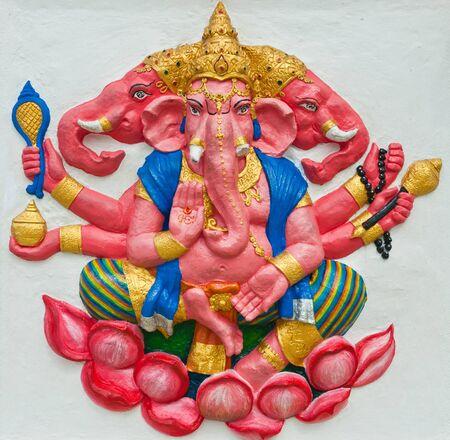 siddhivinayaka: Indian or Hindu God at Wat Saman, Chachoengsao, Thailand